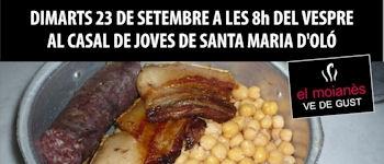 Sta. Maria d\'Oló . La 8ena edició de la Fira MOIANÈS TURISME I LLEURE aquest any tindrà lloc a Santa Maria d'Oló el segon cap de setmana d'octubre.